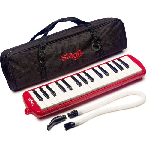Stagg MELOSTA32RD 32 Note Melodica with Case - Red from Stagg