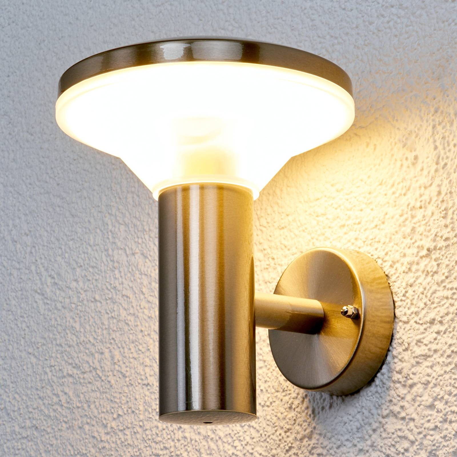 Stainless steel outdoor wall light Jiyan with LED from Lampenwelt.com