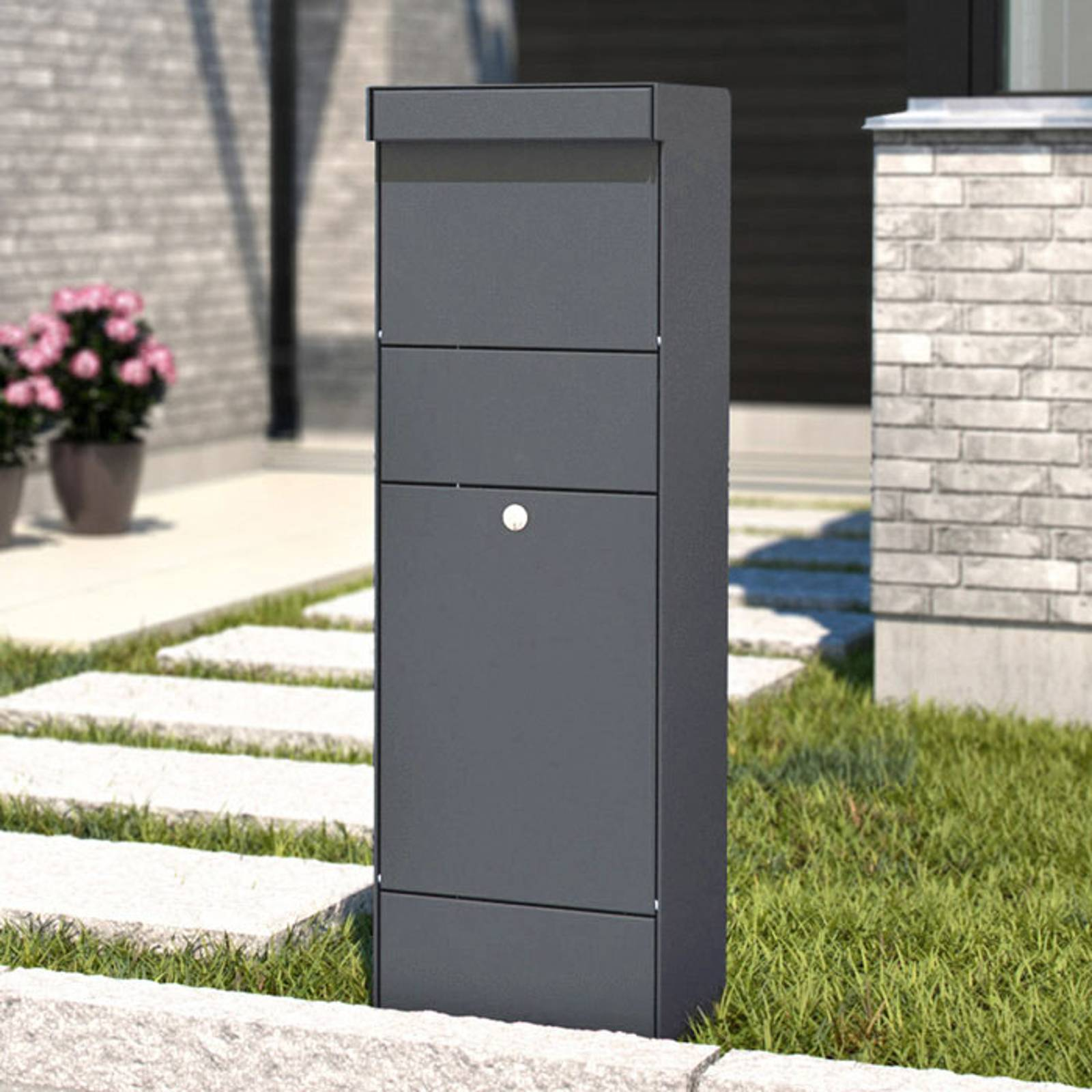 Stand letterbox Parcel anthracite from Juliana