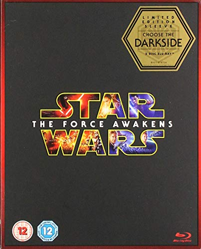 Star Wars: The Force Awakens (Limited Edition Dark Side Artwork Sleeve) [Blu-ray ] [2015] from Walt Disney Studios Home Entertainment