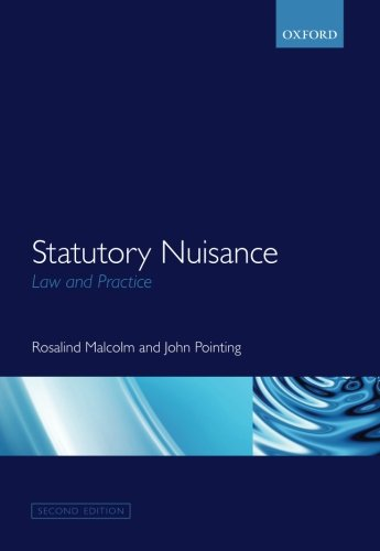Statutory Nuisance: Law and Practice from Oxford University Press, USA