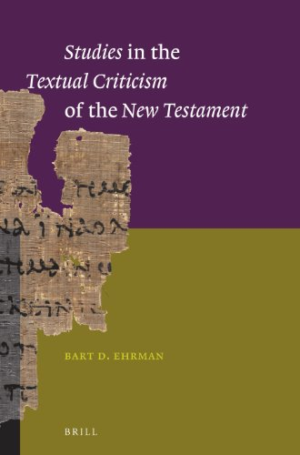 Studies in the Textual Criticism of the New Testament from Brill