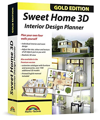 Sweet Home 3D Premium Edition - Interior Design Planner with an additional 1100 3D models and a printed manual, ideal for architects and planners - for Windows 10-8-7-Vista-XP & MAC from Markt+Technik