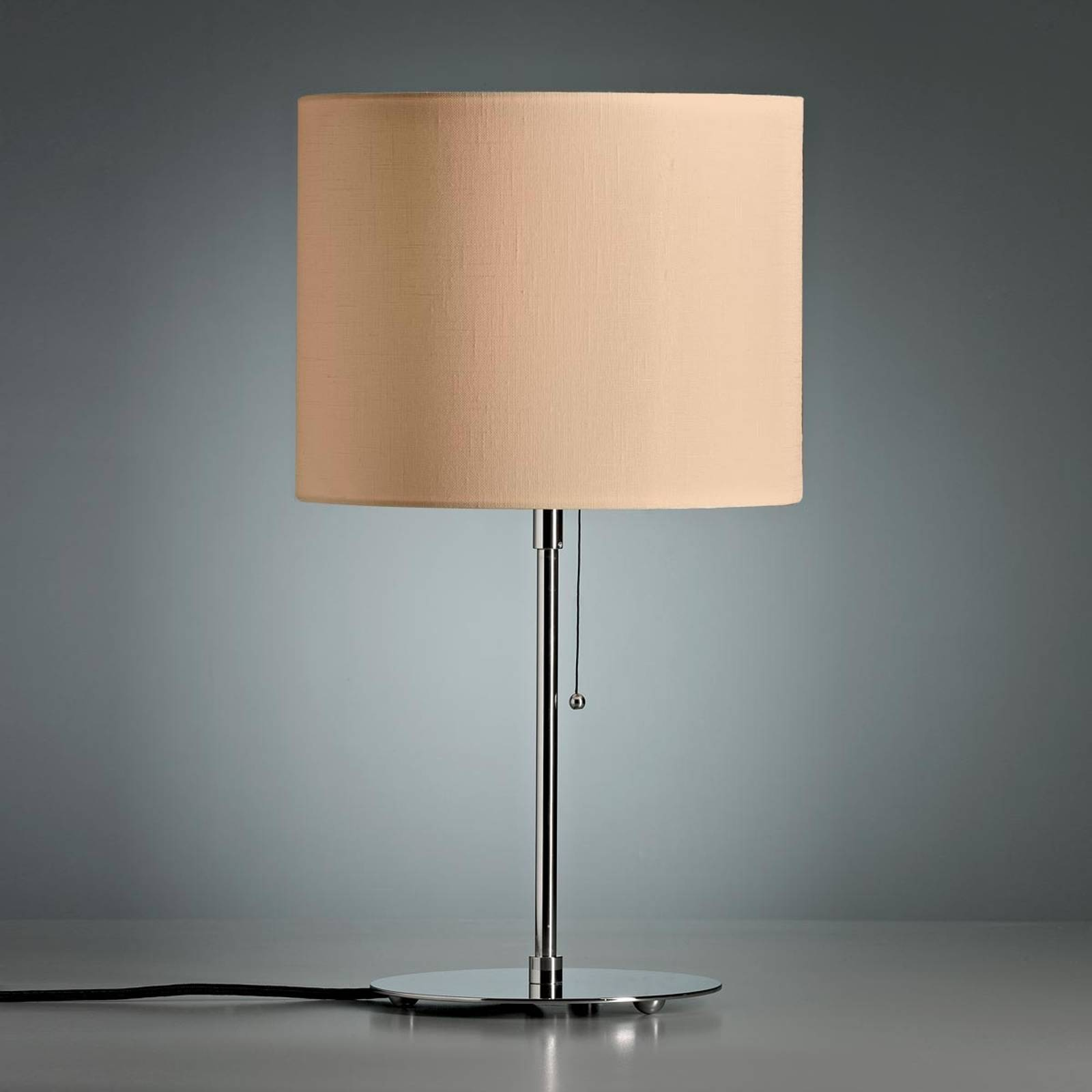 Table lamp, coloured linen lampshade, natural from Tecnolumen