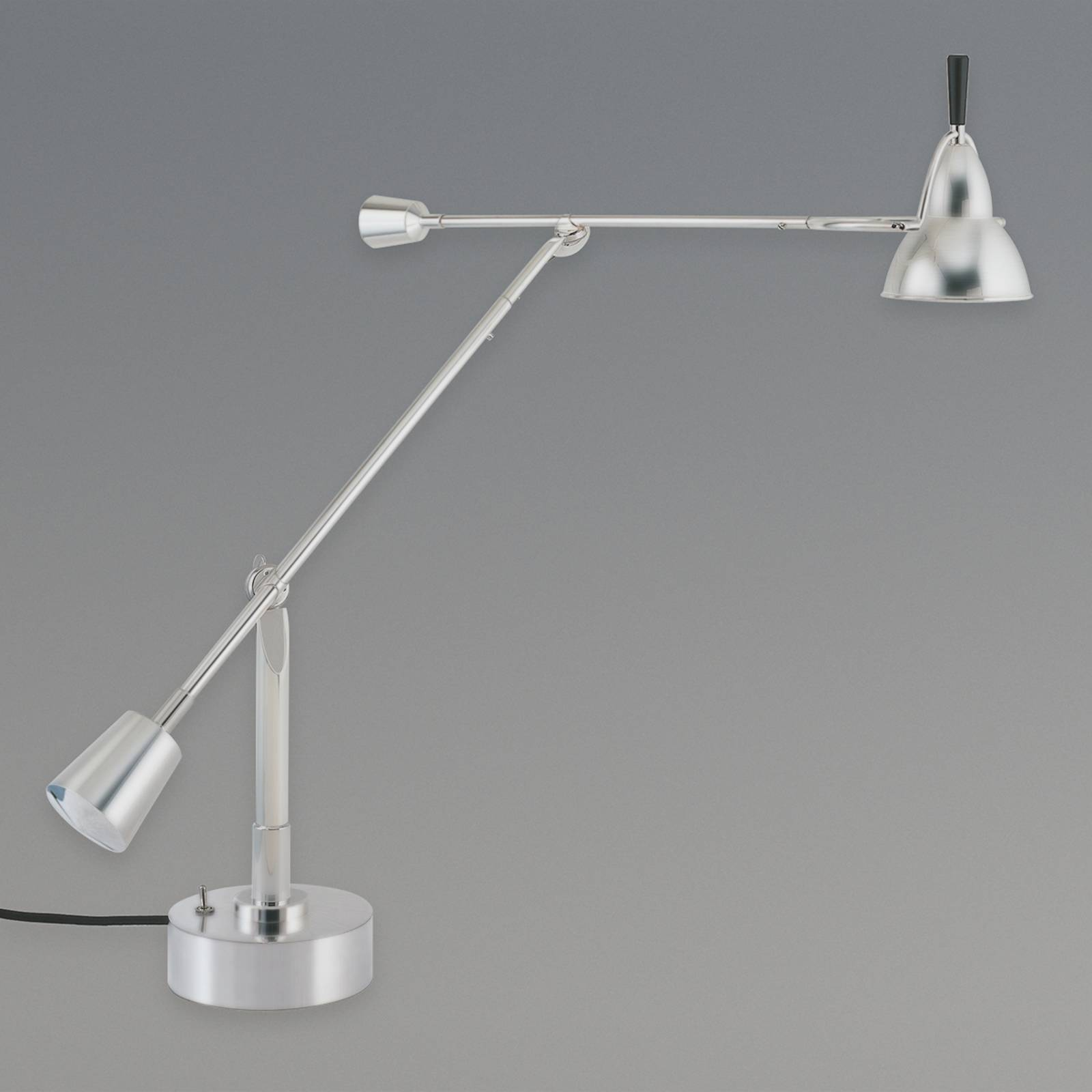 Table lamp by Edward-Wilfrid Buquet, nickel from Tecnolumen