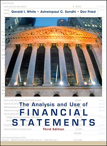 The Analysis and Use of Financial Statements from John Wiley & Sons