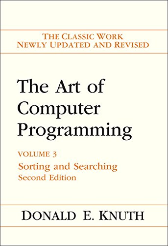 The Art of Computer Programming: Sorting and Searching Vol. 3: Sorting and Searching v. 3 from Addison Wesley