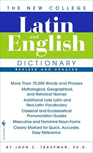 The Bantam New College Latin & English Dictionary from Bantam Books Inc