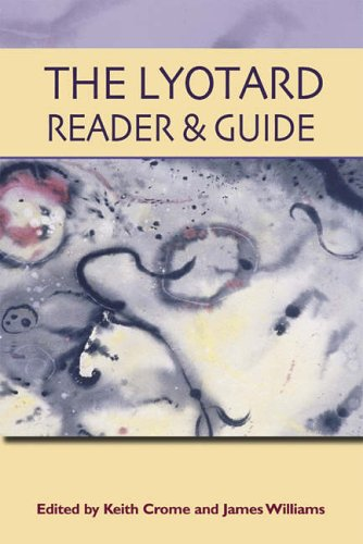 The Lyotard Reader and Guide from Edinburgh University Press