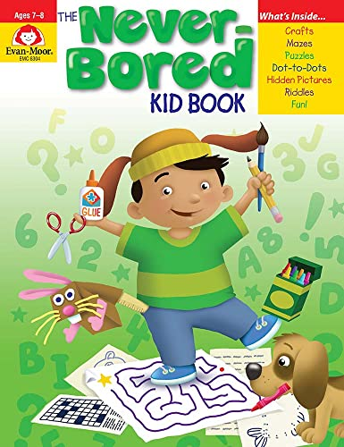 The Never-Bored Kid Book Ages 7-8 (Never-Bored Kid Books) from Evan Moor Educational Publishers