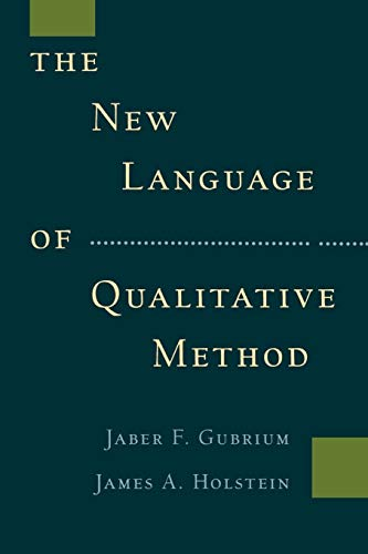 The New Language of Qualitative Method from Oxford University Press, USA