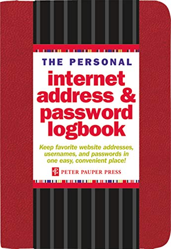 The Personal Internet Address & Password Logbook (Red) from Peter Pauper Press