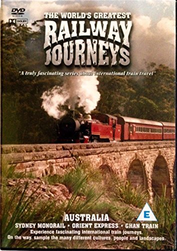 The World's Greatest Railway Journeys - Australia (DVD) - Sidney Monorail - Orient Express - Ghan Train from MUSICBANK