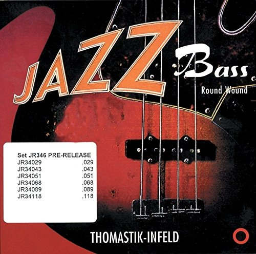 "Thomastik single string D .055 round steel core, nickel round wound super long scale 36"" JR36055 for Electric Bass Jazz set JR364 from Thomastik"
