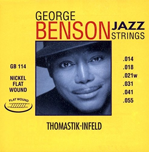 Thomastik single string A5 .041fw nickel flat wound GB41 for Electric Guitar George Benson Jazz set GR114 from Thomastik
