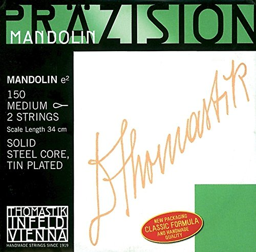 Thomastik-Infeld 152W Mandolin (By Two) Steel Core, Chrome Flat Wound D, Weich (Light) from Thomastik-Infeld