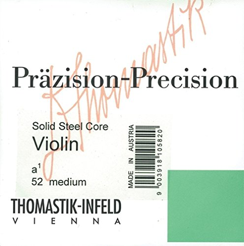 "Thomastik Single string for 1/2 Violin""Präzision"" solid steel core D-string chrome wound, medium from Thomastik"