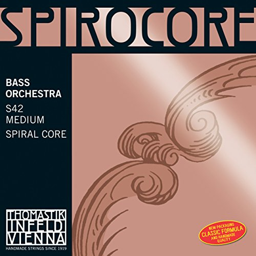 Thomastik Single string for Double Bass 4/4 Spirocore - G-string spiral core, chrome wound, orchestra tuning, medium from Thomastik