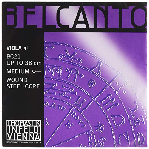 Thomastik Single string for Viola 4/4 Belcanto - A-string steel core, chrome wound, medium from Thomastik