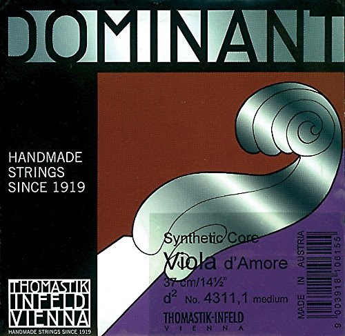 Thomastik Single string for Viola d'amore Dominant scale 38, 5cm - Fis'-string resonance, steel wound from Thomastik