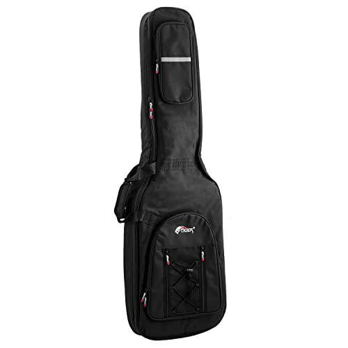 Tiger Bass Guitar Gig Bag - Premier Padded Carry Case from Tiger Music