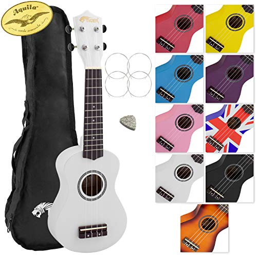 Tiger Beginner Soprano Ukulele and Bag - White from Tiger Music