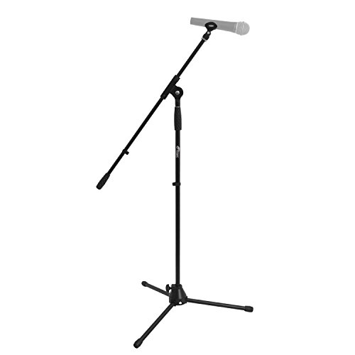 Tiger MCA7-BK Professional Boom Microphone Stand with Free Clip - Black from Tiger Music