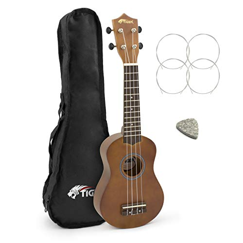 Tiger Music Natural Soprano Ukulele with Bag from Tiger Music