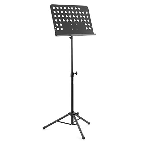 Tiger Orchestral Music Stand - Fully Adjustable Sheet Music Stand in Black from Tiger Music
