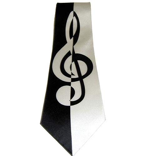 Treble Clef Tie from Tie Studio, London