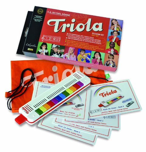 Triola by Seydel Complete Music-Making Gift Set with 4 Notebooks and Bright Keys from Triola