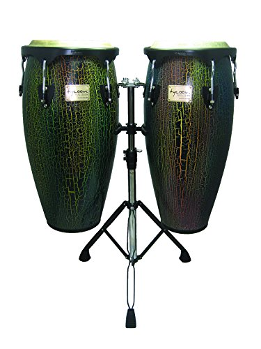 "Tycoon Percussion STCS-BDI/D 10"" & 11"" Supremo Series Conga Set Dark Iris from Tycoon Percussion"