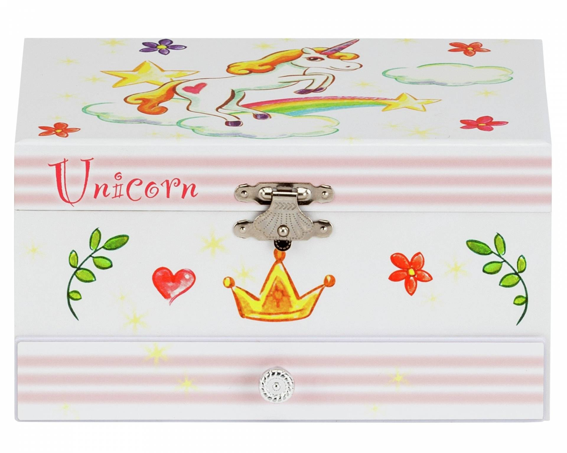 Unicorn Musical Jewellery Box from Mele