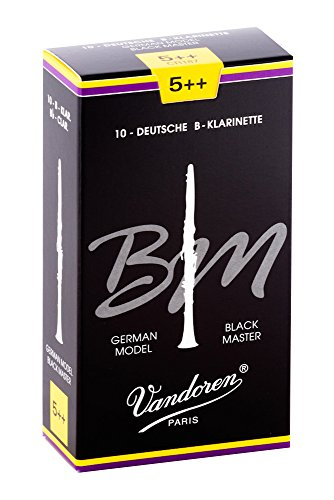 Vandoren CR187 Austrian Black Master Bb Clarinet Reeds (Strength 5++) (Pack of 10) from VANDOREN
