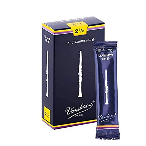 Vandoren CR1025 Traditional Bb Clarinet Reeds (Strength 2.5) (Pack of 10) from VANDOREN