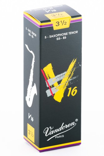 Vandoren V16 Tenor Saxophone Reeds - Box of 5 - Strength 3.5 from VANDOREN