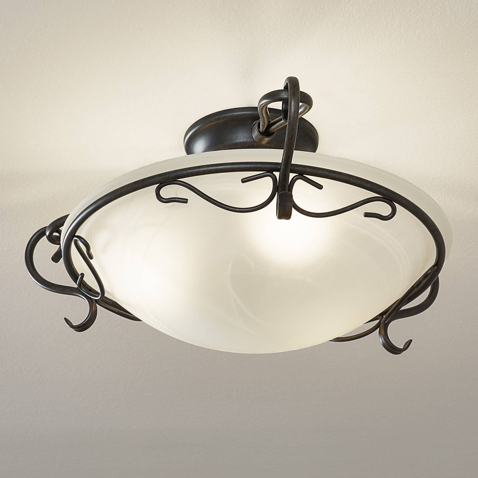 Venturi Ceiling Light 22 cm Antique Rust Colour from Fischer & Honsel
