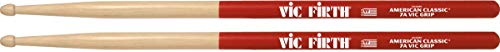 Vic Firth 7A American Hickory Vic Grip Wood Tip Drumsticks from Vic Firth