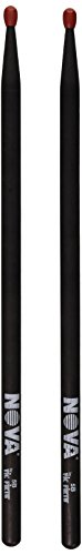 Vic Firth VF-N5BNB Nova 5B Nylon Tip Drum Sticks - Black from Vic Firth