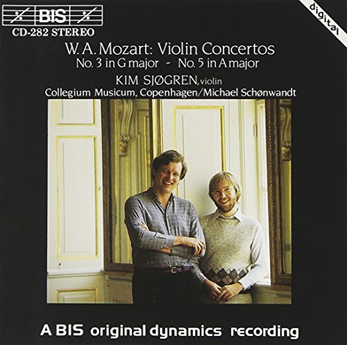 Violin Concerto Nos. 3 and 5 (Schonwandt, Sjogren) from BIS