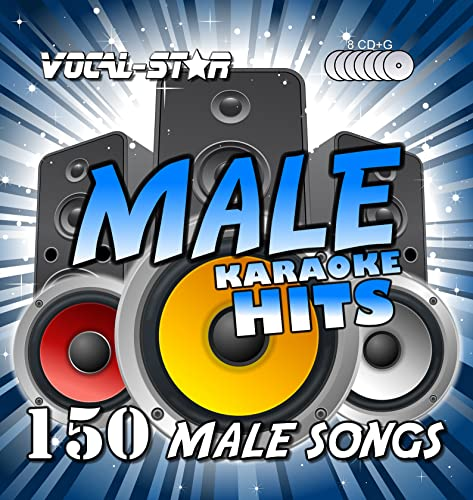 Vocal-Star Male Hits Karaoke Collection CDG CD+G Disc Pack 8 Discs - 150 Songs from Vocal-Star