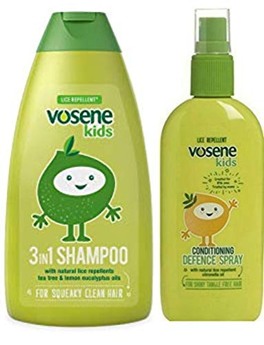 Vosene Kids Lice Repellent 3in1 Shampoo 250ml & Conditioning Defence Spray 150ml