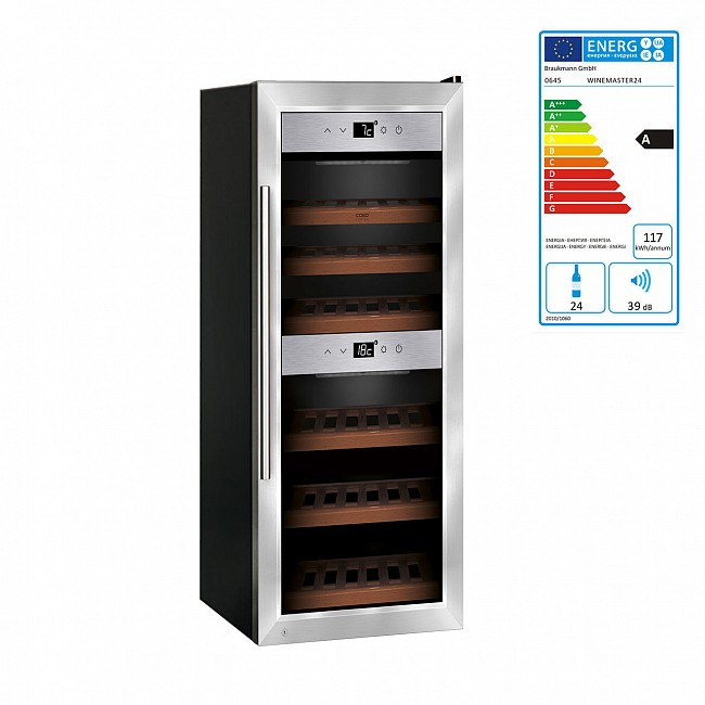 WINE MASTER / wine cabinet for 24 bottles from Caso