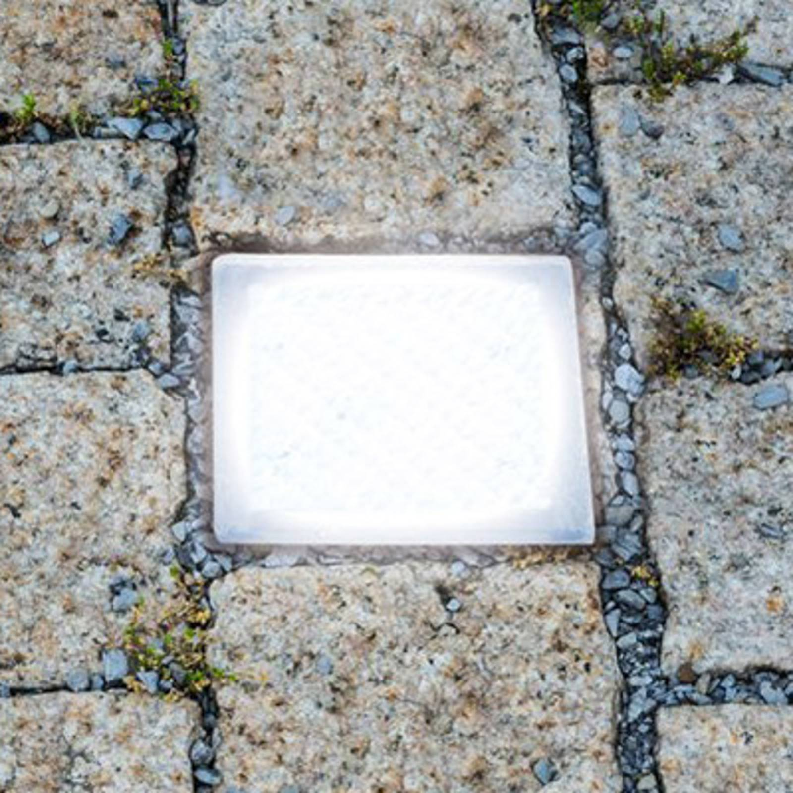 Walk-on LED recessed floor light, paving stone from Heitronic