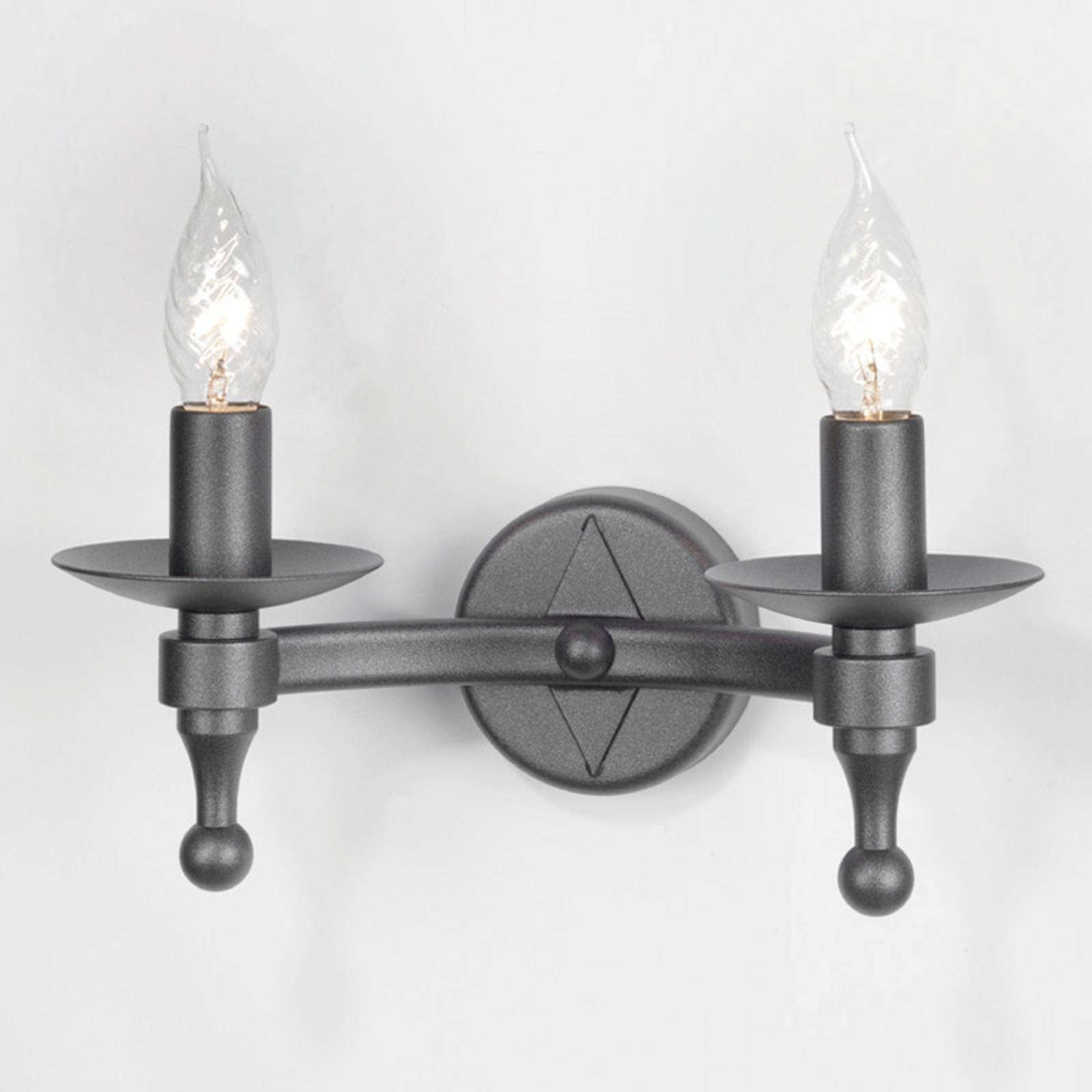 Warwick Wall Light Wrought Iron Graphite from Elstead