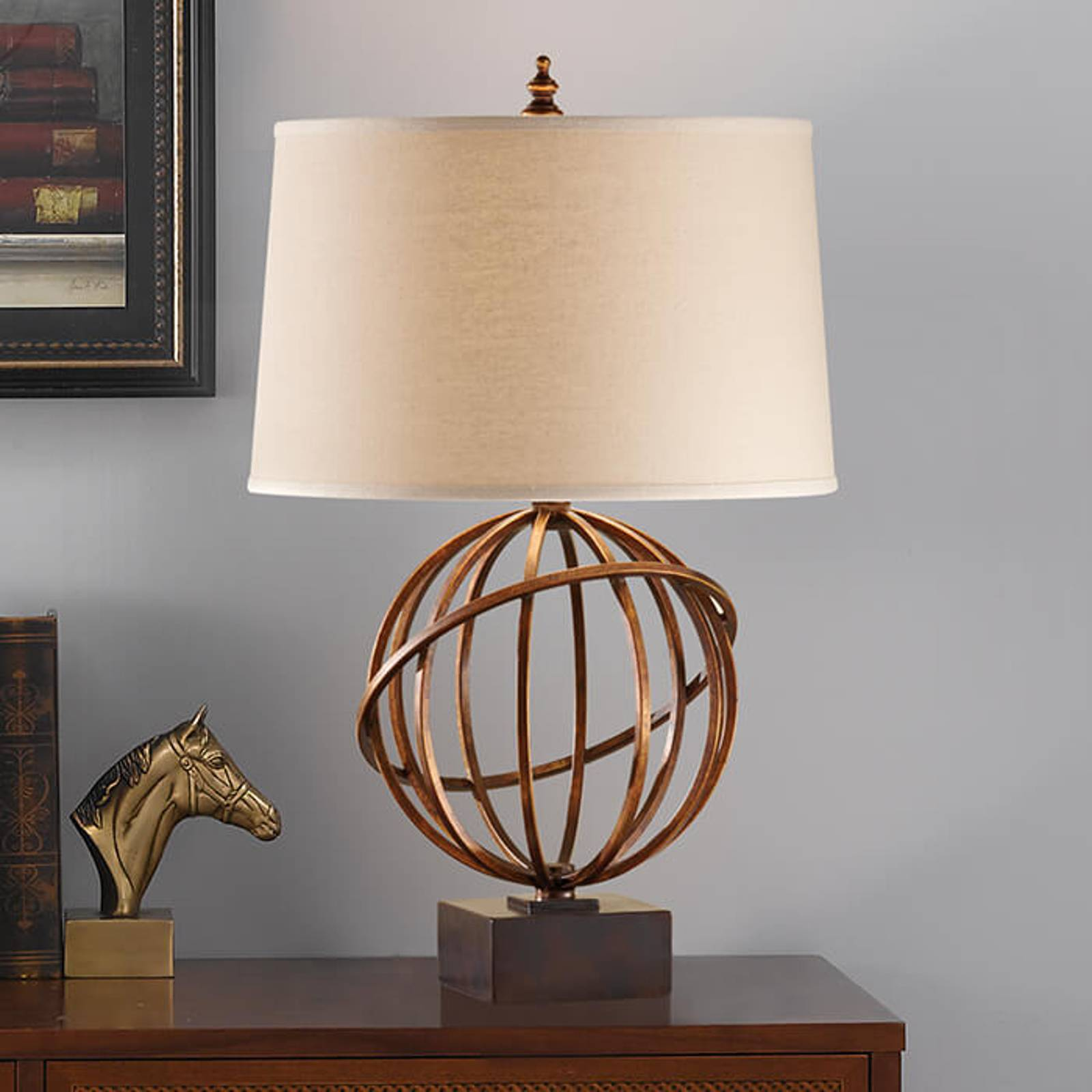 Well-designed fabric table lamp Spencer from Elstead