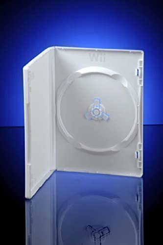 White Wii DVD Storage Cases sleeve 14mm 10 Pack ~ replacement cases for Nintendo Wii Games / Discs from CDL Micro