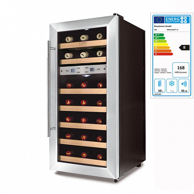 Wine cabinet WINE DUETT, 21 bottle capacity