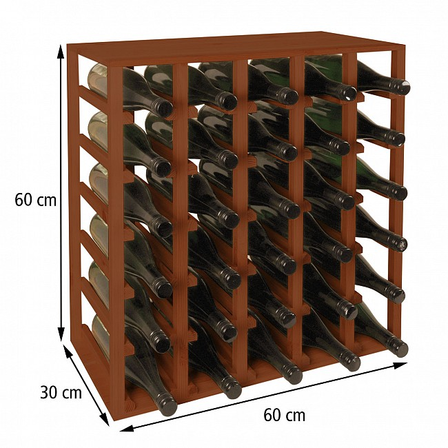 Wine rack 60 cm, module QUADRI, brown