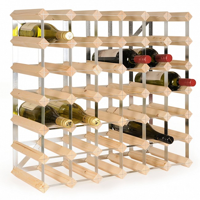 Wine rack TREND, nat., D 22,8 cm, self-assembly, 42 Bottles